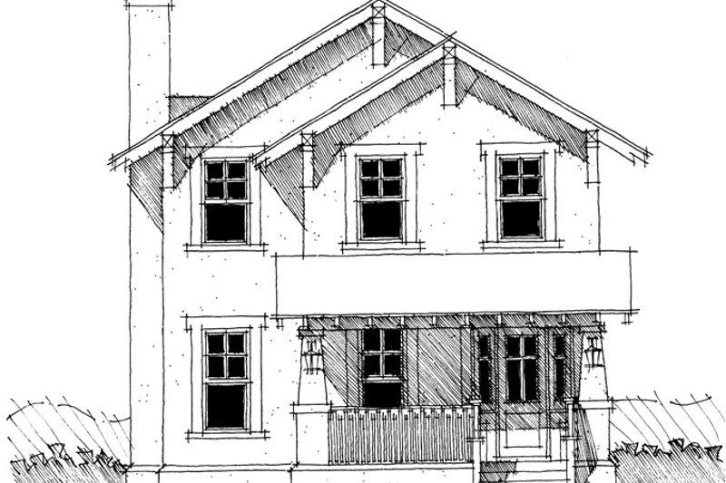 Craftsman Exterior - Front Elevation Plan #64-284 - Houseplans.com