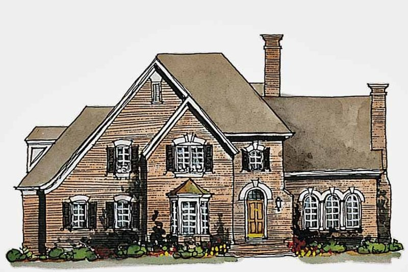 Traditional Exterior - Front Elevation Plan #429-187 - Houseplans.com