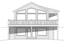 Architectural House Design - Cabin Exterior - Front Elevation Plan #932-107