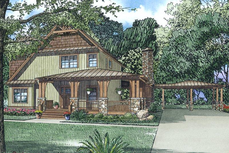 Craftsman Exterior - Front Elevation Plan #17-3382 - Houseplans.com