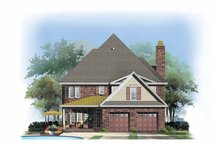 Country Exterior - Rear Elevation Plan #929-867