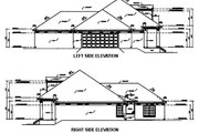 Southern Style House Plan - 3 Beds 2.5 Baths 2127 Sq/Ft Plan #36-195 Exterior - Other Elevation