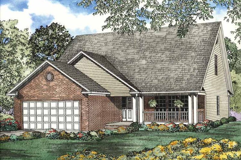 Country Exterior - Front Elevation Plan #17-3022