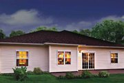 Country Style House Plan - 3 Beds 2 Baths 1446 Sq/Ft Plan #930-362 Exterior - Rear Elevation