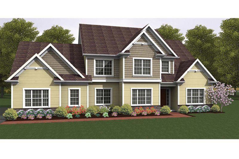 Colonial Exterior - Front Elevation Plan #1010-39