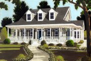 Colonial Style House Plan - 4 Beds 2.5 Baths 2177 Sq/Ft Plan #3-248 Exterior - Front Elevation