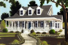 Colonial Exterior - Front Elevation Plan #3-248