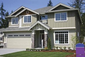House Plan Design - Contemporary Exterior - Front Elevation Plan #951-3