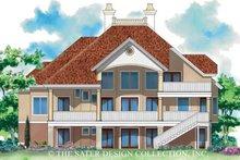 House Plan Design - Mediterranean Exterior - Rear Elevation Plan #930-170