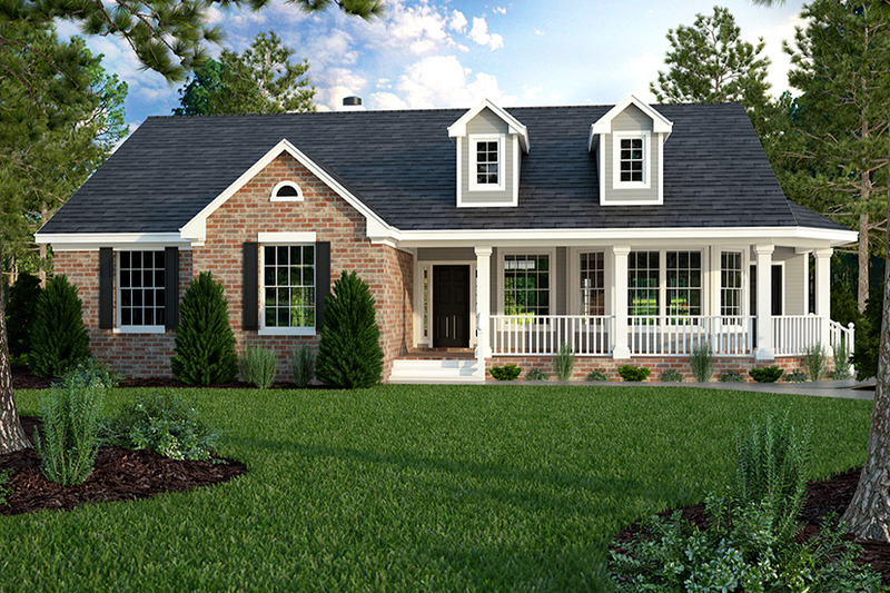 Country style house plan 3 beds 2 baths 1965 sq ft plan for 50188 craftsman