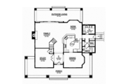 Craftsman Style House Plan - 3 Beds 3 Baths 3315 Sq/Ft Plan #1058-79 Floor Plan - Main Floor Plan