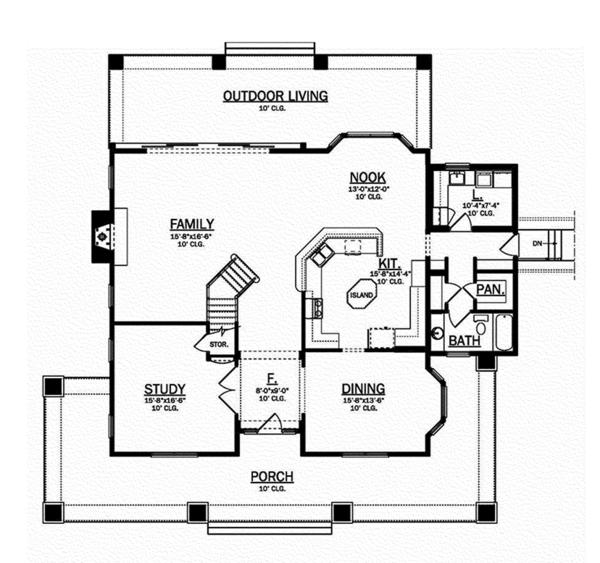 House Plan Design - Craftsman Floor Plan - Main Floor Plan #1058-79