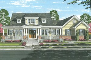 Dream House Plan - Traditional Exterior - Front Elevation Plan #46-852