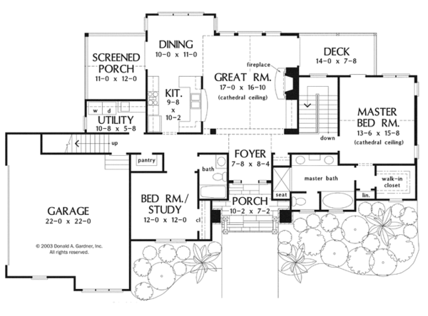 Craftsman Floor Plan - Main Floor Plan Plan #929-946