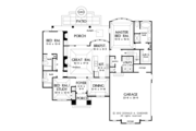 European Style House Plan - 3 Beds 3 Baths 1715 Sq/Ft Plan #929-957 Floor Plan - Main Floor