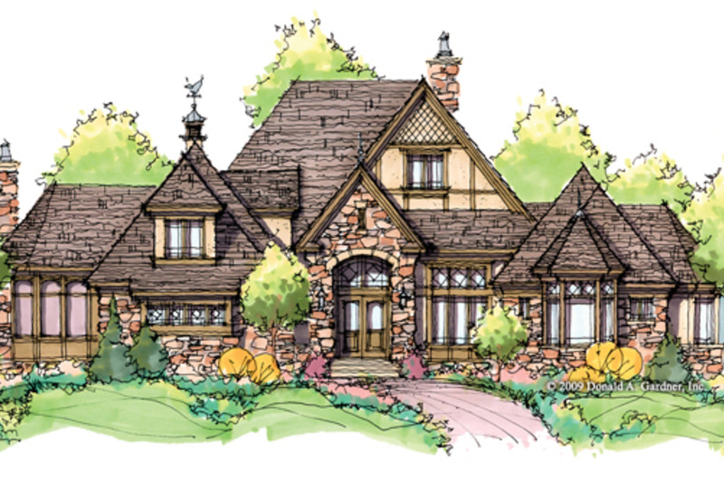 Tudor Exterior - Front Elevation Plan #929-947 - Houseplans.com