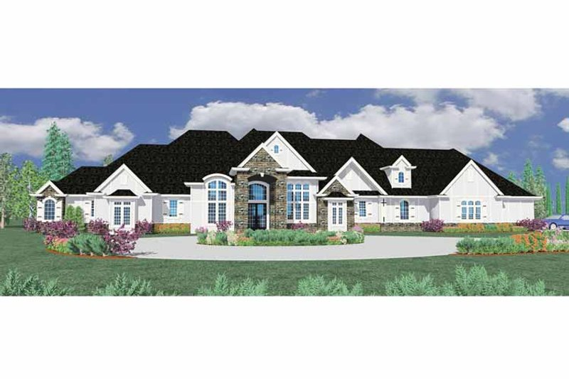 Country Exterior - Front Elevation Plan #509-396 - Houseplans.com