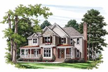 House Design - Country Exterior - Front Elevation Plan #927-743