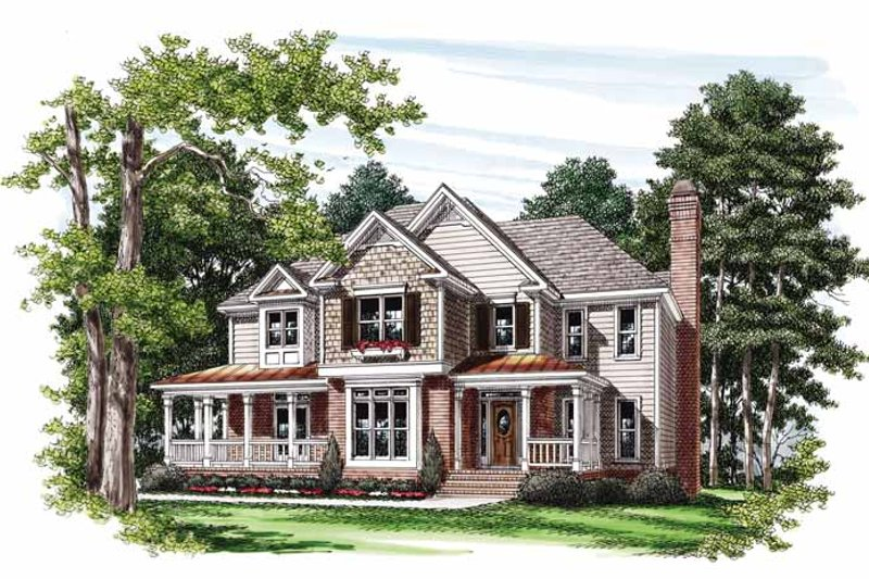 Country Exterior - Front Elevation Plan #927-743