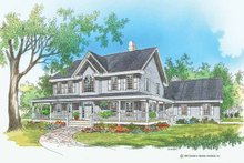 Country Exterior - Front Elevation Plan #929-550
