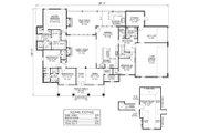 Southern Style House Plan - 4 Beds 3 Baths 3176 Sq/Ft Plan #1074-2 Floor Plan - Main Floor Plan