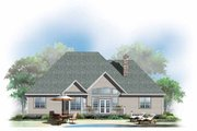 Ranch Style House Plan - 4 Beds 3 Baths 1975 Sq/Ft Plan #929-881 Exterior - Rear Elevation