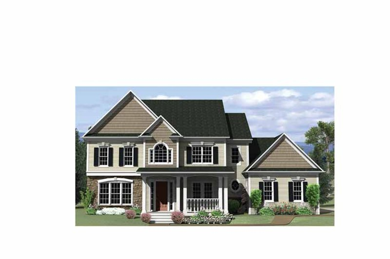 Classical Exterior - Front Elevation Plan #1010-12 - Houseplans.com