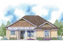 Country Exterior - Front Elevation Plan #938-4