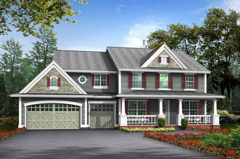 Craftsman Exterior - Front Elevation Plan #132-369