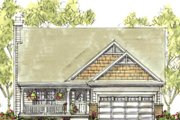 Farmhouse Style House Plan - 4 Beds 3 Baths 1809 Sq/Ft Plan #20-1224 Exterior - Front Elevation