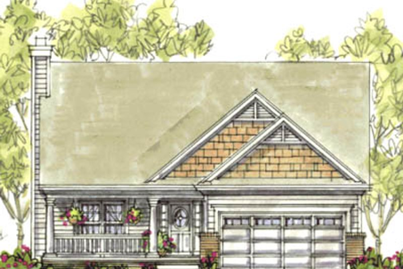 Home Plan - Farmhouse Exterior - Front Elevation Plan #20-1224