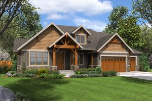 Craftsman Exterior - Front Elevation Plan #48-681