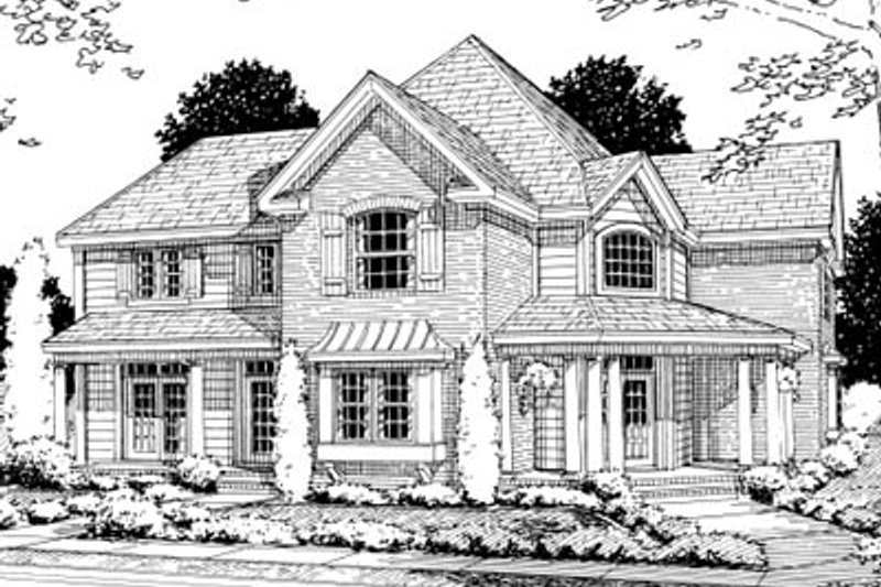 Dream House Plan - Traditional Exterior - Front Elevation Plan #20-358