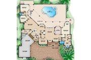 European Style House Plan - 5 Beds 4.5 Baths 4203 Sq/Ft Plan #27-426 Floor Plan - Main Floor