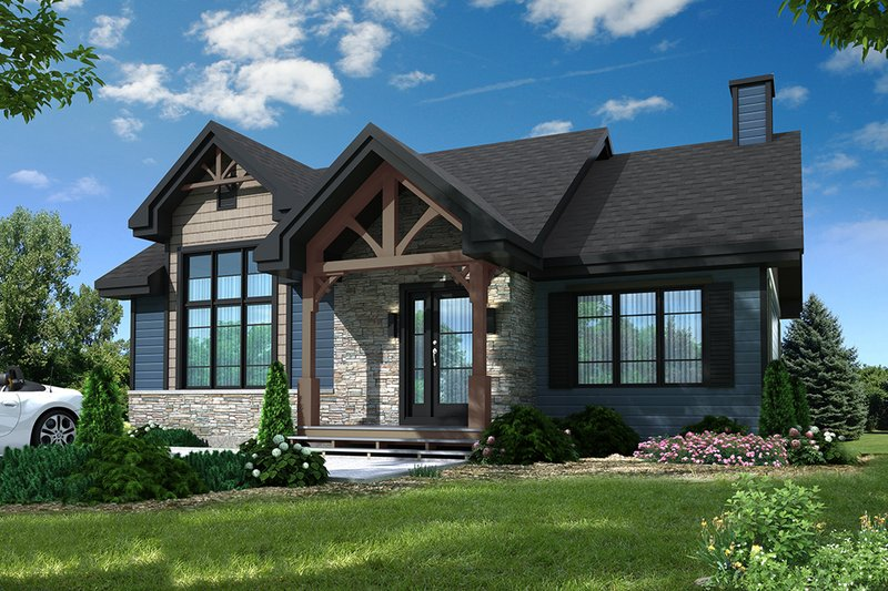 Craftsman Exterior - Front Elevation Plan #23-2664