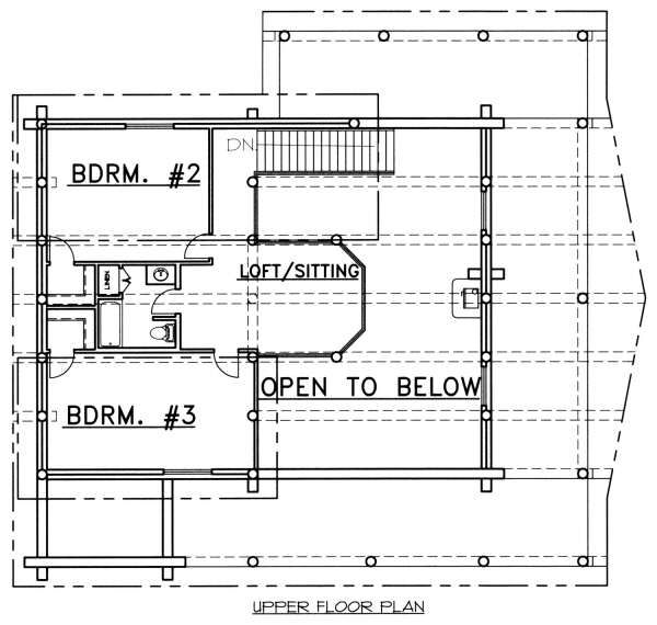 Log Floor Plan - Upper Floor Plan Plan #117-553