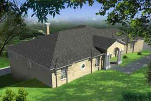 Traditional Exterior - Front Elevation Plan #1-769