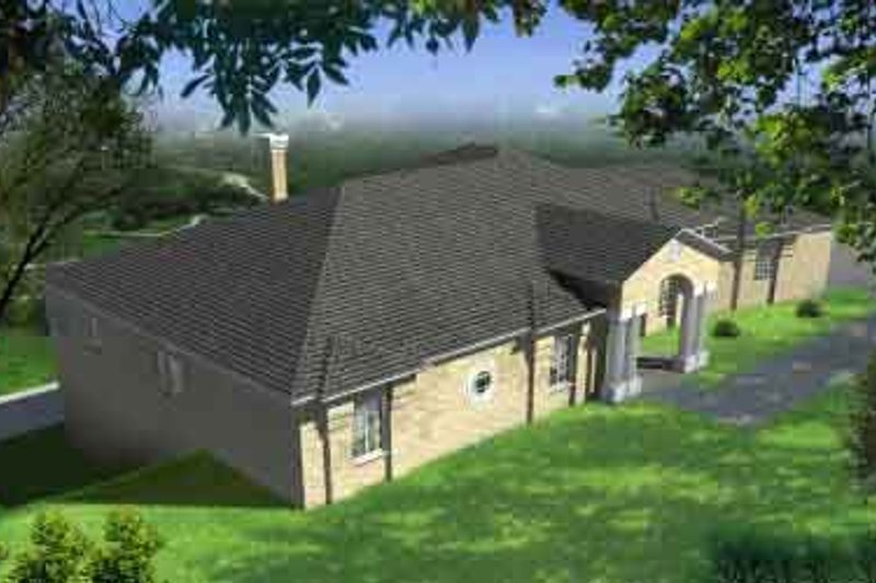 Traditional Style House Plan - 4 Beds 3 Baths 3092 Sq/Ft Plan #1-769 Exterior - Front Elevation