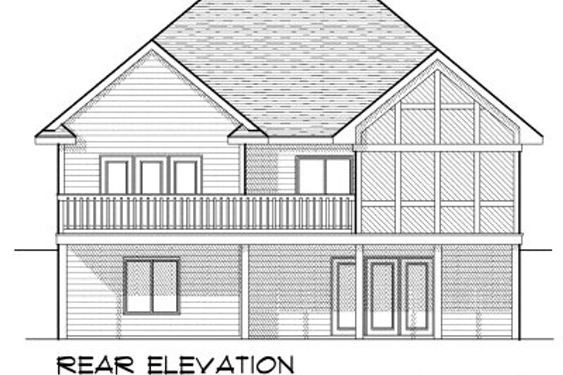 European Exterior - Rear Elevation Plan #70-801 - Houseplans.com