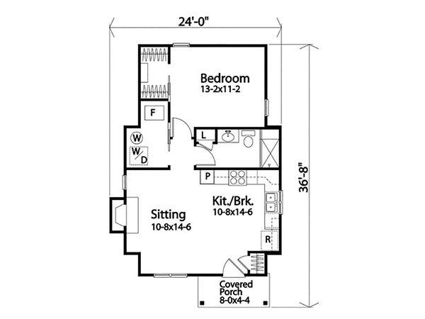 House Design - Cottage Floor Plan - Main Floor Plan #22-604