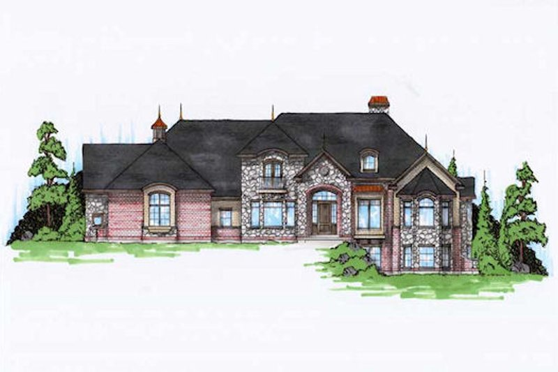 Home Plan - European Exterior - Front Elevation Plan #5-415