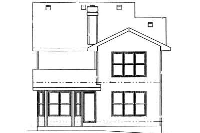 Traditional Exterior - Rear Elevation Plan #20-566 - Houseplans.com