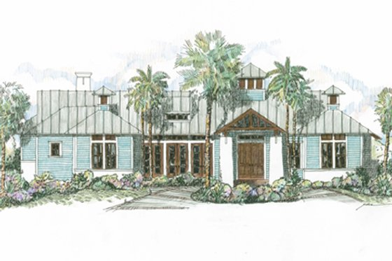 Beach Exterior - Front Elevation Plan #426-13