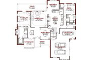 Traditional Style House Plan - 4 Beds 3.5 Baths 3649 Sq/Ft Plan #63-288 Floor Plan - Main Floor Plan