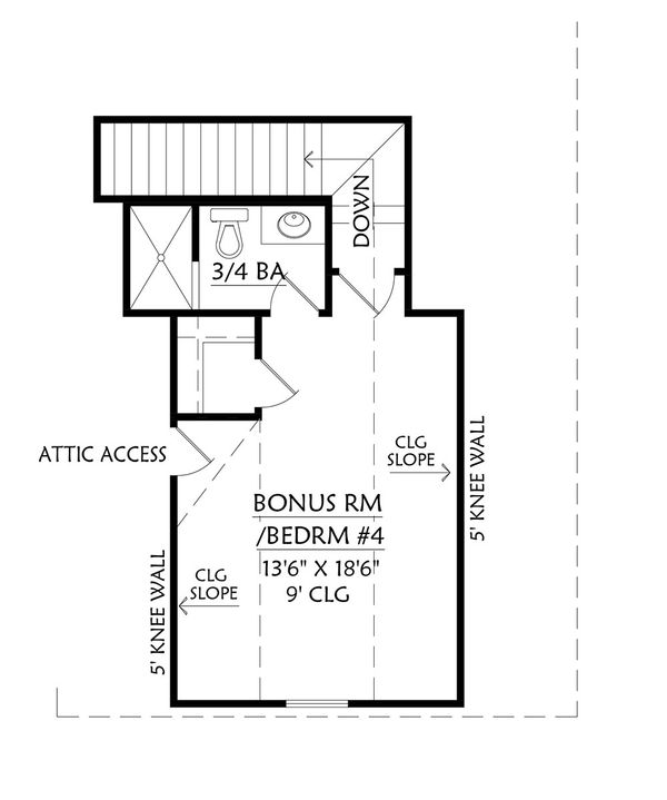 Farmhouse Floor Plan - Upper Floor Plan Plan #1074-15
