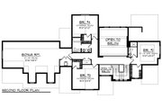 Craftsman Style House Plan - 4 Beds 3.5 Baths 3392 Sq/Ft Plan #70-1287 Floor Plan - Upper Floor Plan