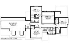 Craftsman Floor Plan - Upper Floor Plan Plan #70-1287