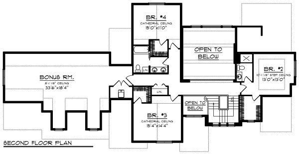 Home Plan - Craftsman Floor Plan - Upper Floor Plan #70-1287