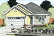 Cottage Style House Plan - 3 Beds 2 Baths 1491 Sq/Ft Plan #513-2086