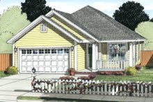 House Plan Design - Cottage Exterior - Front Elevation Plan #513-2086
